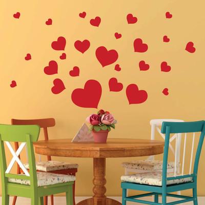 heart wall stickers