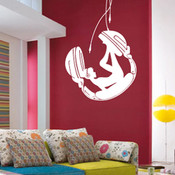 Headphone Girl Wall Sticker
