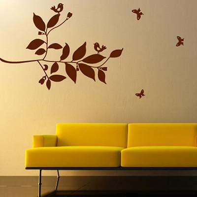 Butterfly Birds tree Leaf Wall Sticker