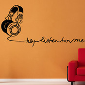 Stylish Headphone Wall Sticker
