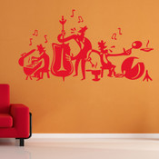 Musical Band Wall Sticker