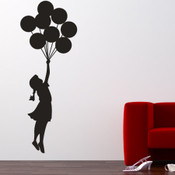 Banksy Balloon Floating Wall Sticker