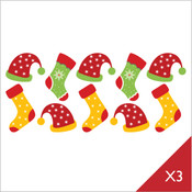 Christmas stocking wall stickers