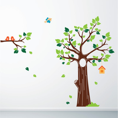 Jungle tree wall stickers
