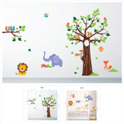 animal and tree wall stickers