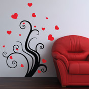 heart tree wall sticker