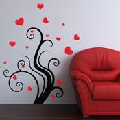 heart tree wall sticker
