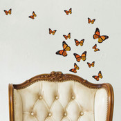 orange monarch butterfly wall stickers