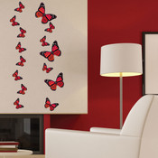 Monarch Butterfly Wall Stickers (Red)