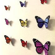 3D monarch butterfly wall decors