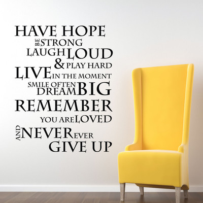 have hope inspirational wall quotes stickers