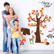 woodland animal wall stickers