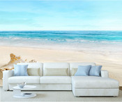 Seashells Beach Ocean Wall Mural