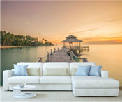 Sunset Beach Wall Mural