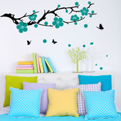 plum tree wall sticker