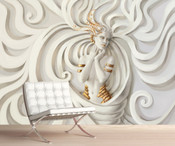 Medusa Luxury Modern Art Wall Mural