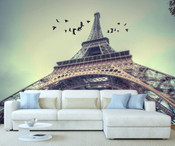 Paris Eiffel Tower Close Up View Wall Mural