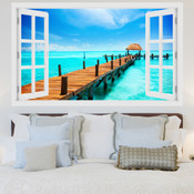 Maldives Paradise Island 3D Wall Sticker 5301-1002