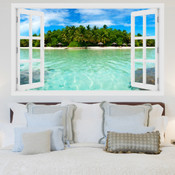 Beach Island Resort 3D Wall Sticker