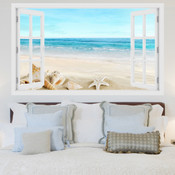 Seashells Beach Ocean 3D Wall Sticker