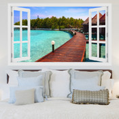 Paradise Island Resort 3D Wall Sticker