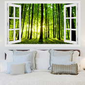 Sunlight Through Forest 3D Wall Sticker 5301-1010
