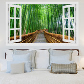 Bamboo Tree Pathway 3D Wall Sticker 5301-1011