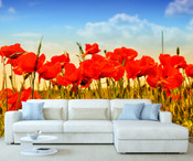 Red Poppy Flowers Wall Mural