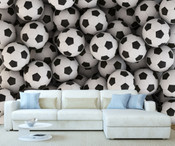 Giant Footballs  Wall Mural