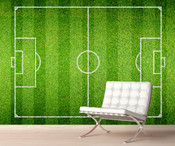 Green Football Pitch Wall Mural