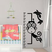 monkey height chart wall sticker