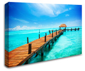 Maldives Paradise Island Wall Art Canvas