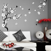 Large Plum Blossom Wall Sticker