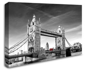 London Tower Bridge Red Bus Wall Art Canvas 8998-1037