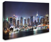 New York City Manhattan Skyline View Wall Art Canvas 8998-1047