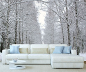 Winter Forest Tree Wall Mural 2