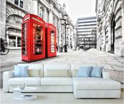 London City Telephone Box Wall Mural
