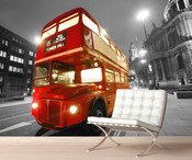 London Red Bus Wall Mural 2