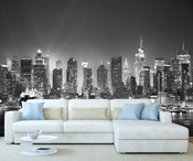 New York City Night View Wall Mural