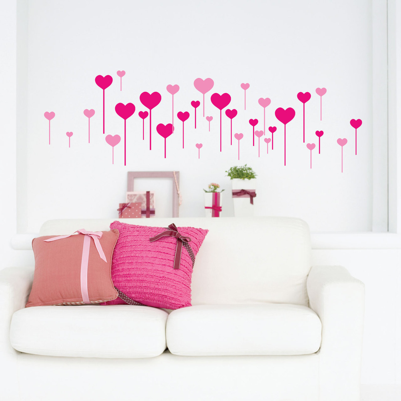 heart stick wall stickers stickers wall new large always kiss me goodnight wall decals bedroom