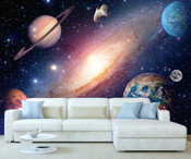 Space Planet Moon Wall Mural 3