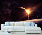 Space Planet Moon Wall Mural 4