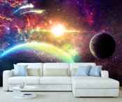 Space Planet Moon Wall Mural 5