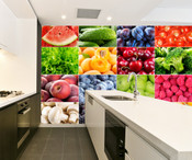 Fruit and Vegetable Wall Mural
