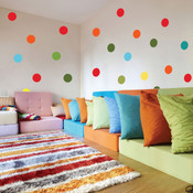 polka dot wall sticker