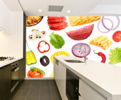 Fruit and Vegetable Wall Mural 2