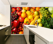 Fruit and Vegetable Wall Mural 3