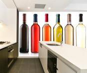 Bottles of Wine Wall Mural