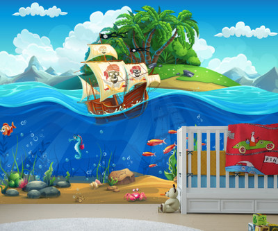 ... Pirate Ship Wall Mural. Image 1 Part 42
