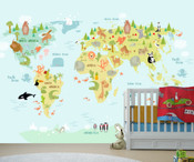 Adventure World Map Wall Mural